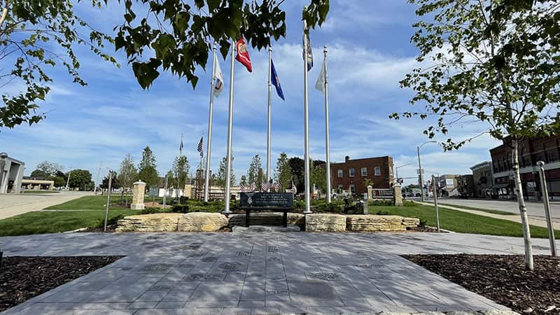 A view of the Veterans Area of the Wisconsin 9/11 Memorial & Education Center